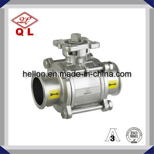 Stainless Steel High Platform Clamped Three Pieces Ball Valve pictures & photos