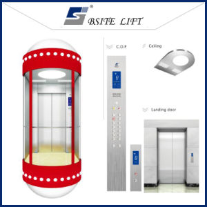 Mrl Traction Type Panoramic Elevator Without Machine Room