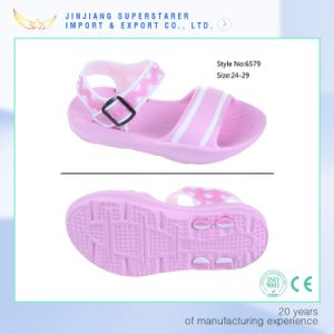 Trendy Pink EVA Girls Sandals with Buckle Strap pictures & photos