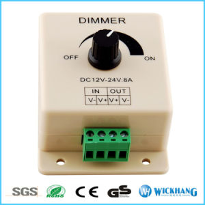 Manual Dimmer Switch for LED Strip Light, 12V 8A Mountable with Terminals pictures & photos