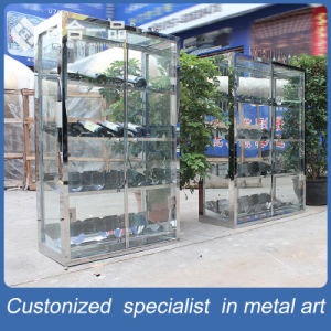 Customized Stainless Steel Wine Rack with Tempered Glasses pictures & photos