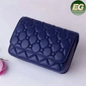 2017 New Design Purses Fashion Grid Leather Small Wallet Bags for Women Emg4943 pictures & photos