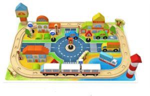 Hot Chirstmas Gift 118PCS Wooden Track City Block Toy for Kids and Children pictures & photos