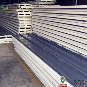 Light Steel Color Corrugated PU Sandwich Panel pictures & photos