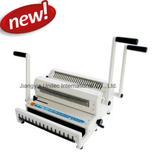 Factory Direct Sale A4 Office Manual 2 in 1 Wire Book Binding Machine Ww2500 pictures & photos