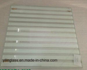 Toughened Tempered Silk Screen Glass with Rough / Polish Edge 4-15mm pictures & photos