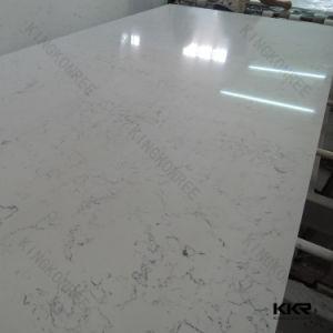 3/4 Carrara White Artificial Quartz Stone Slab for Floor Tile (Q1706122) pictures & photos