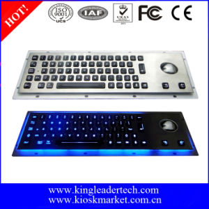 Layout Customizable Rugged Metal Keyboard with Backlight and Trackball
