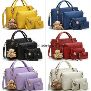4-PCS Set Bag Women Shopping Bag Wallet Purse Fashion Handbag pictures & photos