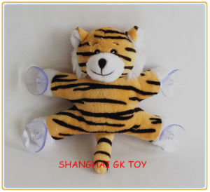 Small Gift Plush Tiger with Suction Cup pictures & photos