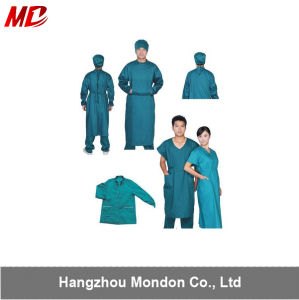 High Quality 100% Cotton Green Surgical Gown for Hospital pictures & photos