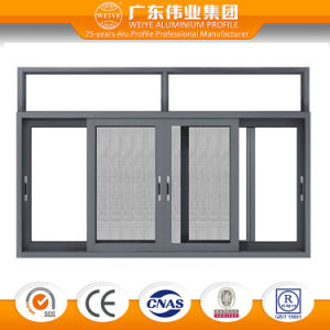 Three Track Professional Aluminum Frame Sliding Windows with Net pictures & photos