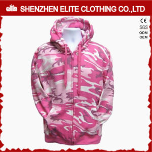 Custom Logo Women′s Pink Camo Hoodies Wholesale Price (ELTHI-67) pictures & photos