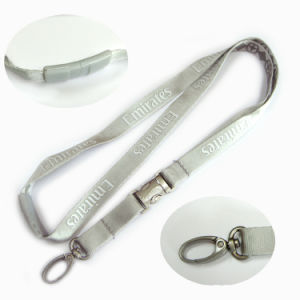 White Polyester Lanyards Printing Custom Design Logo for Propaganda pictures & photos