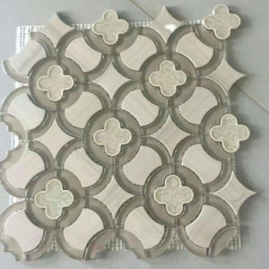 Stone Mosaic Leaf Shape Water Jet pictures & photos