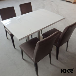 Solid Surface Top Modern Restaurant Dining Table pictures & photos