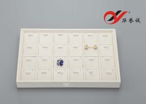 24 Slots PU Leather Jewelry Display Tray pictures & photos