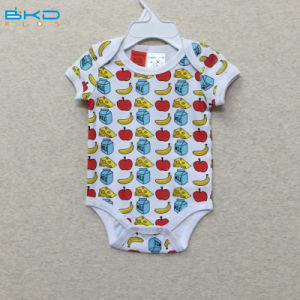 Short Sleeve Baby Wear Envelope-Neck Baby Bodysuit pictures & photos