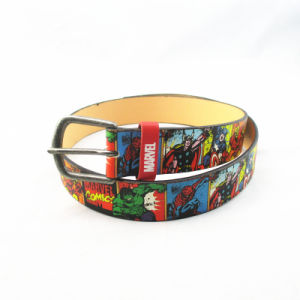 Superman Cartoon Casual PU Belt for Kids pictures & photos