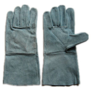 Cow Split Full Leather Welding Work Glove pictures & photos