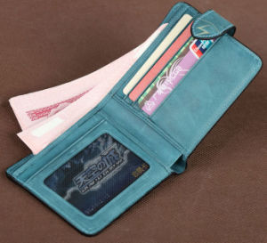 Fashion Real Leather Clutch Purse Money Clip Wallet pictures & photos
