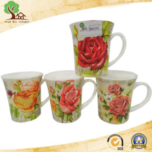 Yuanmei Sourcing Ceramic New Bone China Round Decal Flower Coffee Mug pictures & photos