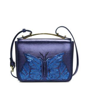New Designer Shiny Beaded Butterfly Girls Fashion Handbags Satchel Bag