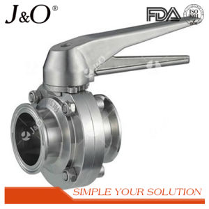 Best Popular Sanitary Weld Butterfly Valve with Stainless Steel Handle pictures & photos