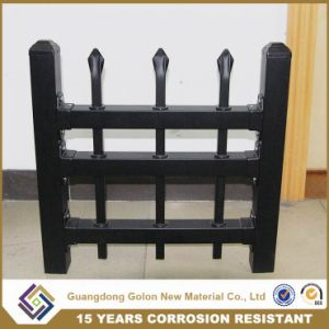 Euro Style Free Standing Powder Coated Wrought Iron Fence pictures & photos