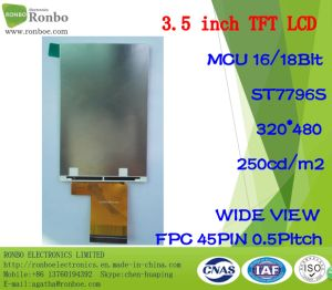3.5 Inch 320X480 MCU 16/18bit 45pin Customized TFT LCD pictures & photos