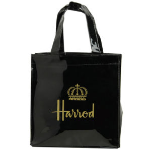 Two Sizes Waterproof PVC Canvas Shopping Bag (H004)