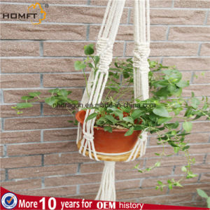 Cotton Make Nature Color Macrame Hanger Table with Tassles pictures & photos
