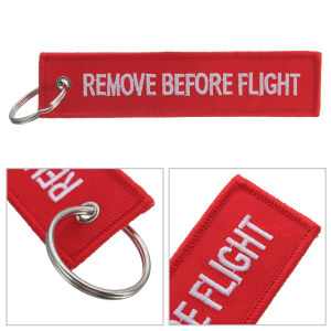 Type Remove Before Flight Embroidery Keychain Fabric Material Keychain pictures & photos