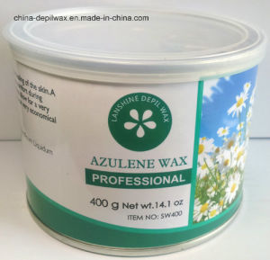 Azulene Depilatory Wax Soft Strip Wax 400g Can pictures & photos
