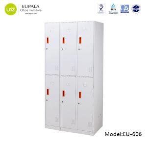 6 Door Steel Locker for Supermarket/Gym Locker Room Furniture pictures & photos