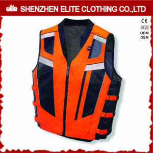 High Visibility Reflective Traffic Safety Work Vest (ELTHVVI-28) pictures & photos
