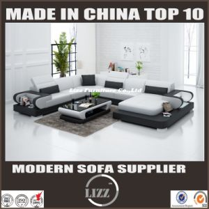 Leisure Sofa with Genuine Leather for Living Room Lz3314 pictures & photos