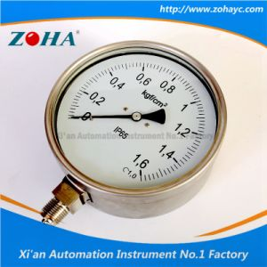 Stainless Steel Safety Pressure Manometer pictures & photos