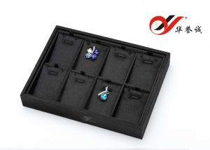 8 Slots Pendant Tray in Black Silk Cotton pictures & photos