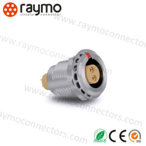 2pin Fgg 0b Series Metal Circular Male and Female Push Pull Audio Video Cable Connector pictures & photos