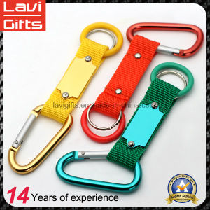 Custom Design Polyester Lanyard Keychain with Carabiner Hook pictures & photos