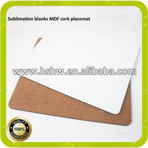 Blank Wood MDF Cork Table Mats for Thermal Sublimation Printing pictures & photos