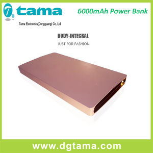 Wholesale Slim Aluminium 6000mAh Power Bank with Li Ploymer pictures & photos