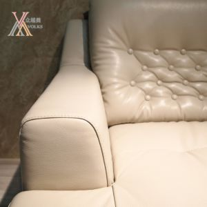 Fashion American Style Modern Leather Sofa with Corner (1621A) pictures & photos