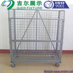 Wire Mesh Container with Wheel (SLL07-L009) pictures & photos