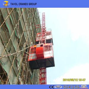 Double Cage Sc200/200 Galvanized Construction Elevator pictures & photos
