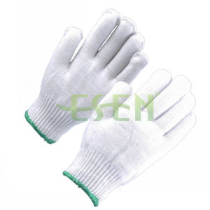 10gauge Grade a Yarn Made Knitted Cotton Worked Gloves pictures & photos