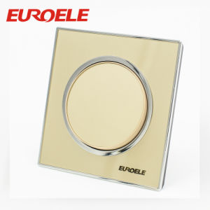 2 Gang Acrylic Gold Color 86*86*37mm 250V/10A Wall Switches pictures & photos