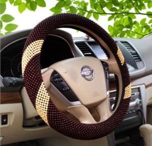 High Quality Wood Bead Car Steering Wheel Cover Sleeve pictures & photos