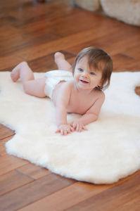 Short Wool Baby Sheepskin Rug Single-Pelt Rug pictures & photos